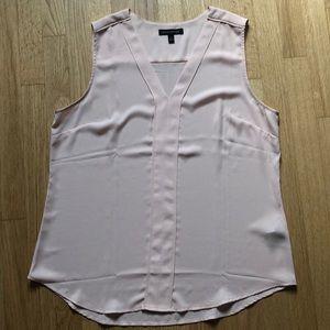 Banana Republic sleeveless blouse in pink blush